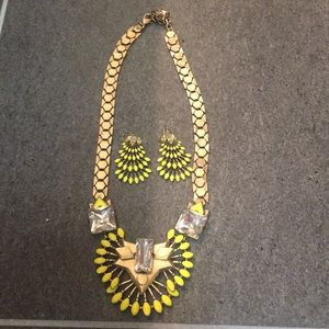 Stella & Dot necklace and earrings.